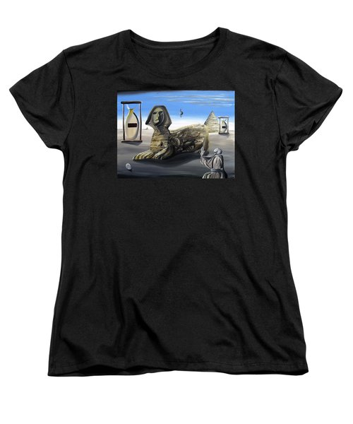 Women's T-Shirt (Standard Cut) featuring the painting Idolatary Conformity by Ryan Demaree