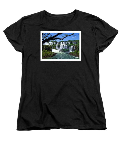 Iguazu Falls In Argentina Women's T-Shirt (Standard Cut) by Joan  Minchak