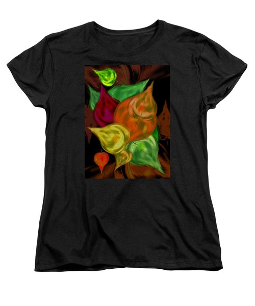 Imagine Leaves Women's T-Shirt (Standard Cut) by Christine Fournier