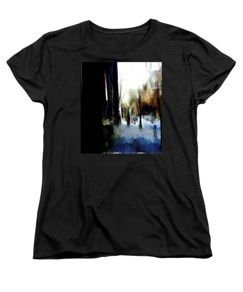 Women's T-Shirt (Standard Cut) featuring the mixed media Impending Gloom by Terence Morrissey