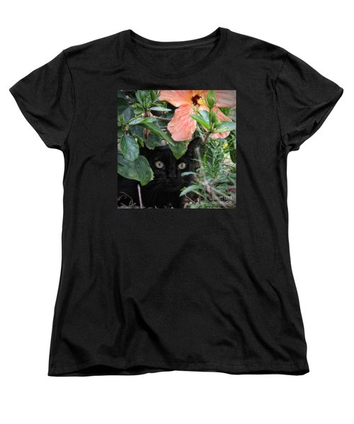 In His Jungle Women's T-Shirt (Standard Cut) by Peggy Hughes