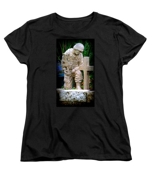 In Honor Of The Wounded Warrior Women's T-Shirt (Standard Cut) by Kay Novy