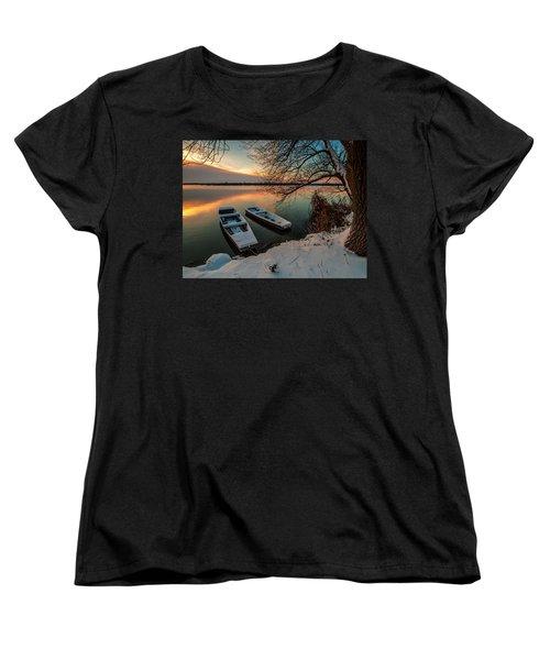 In Safe Harbor Women's T-Shirt (Standard Cut) by Davorin Mance