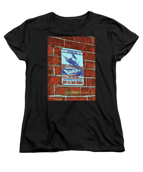 In The Air And On The Sea Poster Women's T-Shirt (Standard Cut)