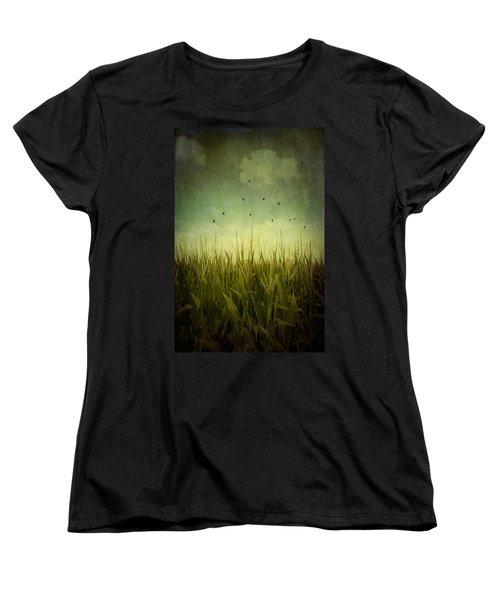 In The Field Women's T-Shirt (Standard Cut) by Trish Mistric