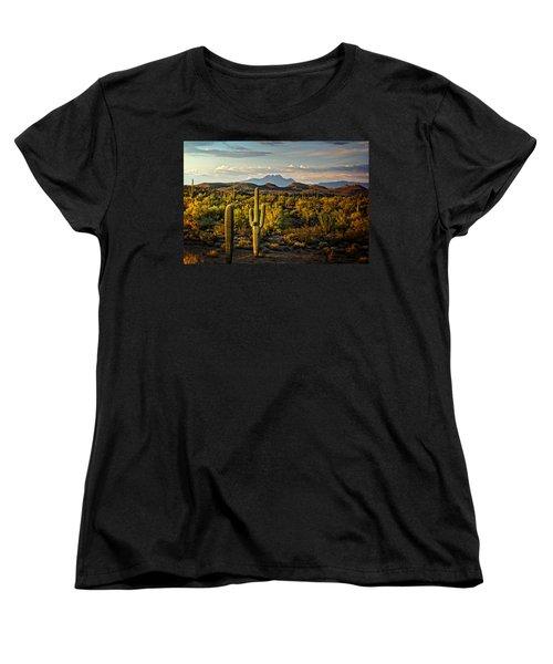 In The Golden Hour  Women's T-Shirt (Standard Cut) by Saija  Lehtonen