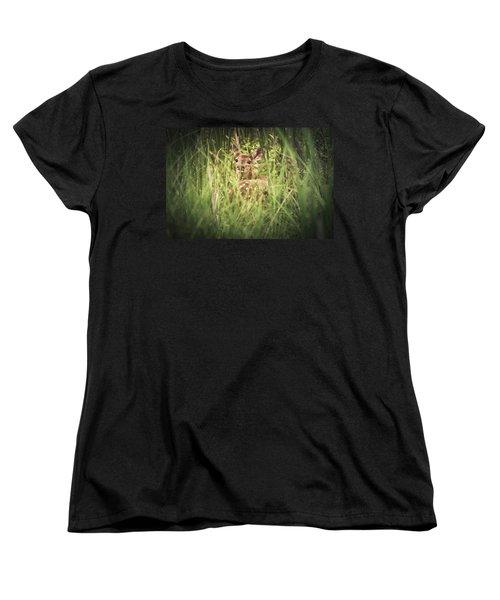 In The Tall Grass Women's T-Shirt (Standard Cut) by Shane Holsclaw