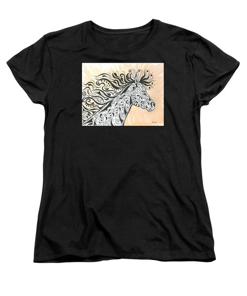 In The Wind Women's T-Shirt (Standard Cut) by Susie WEBER