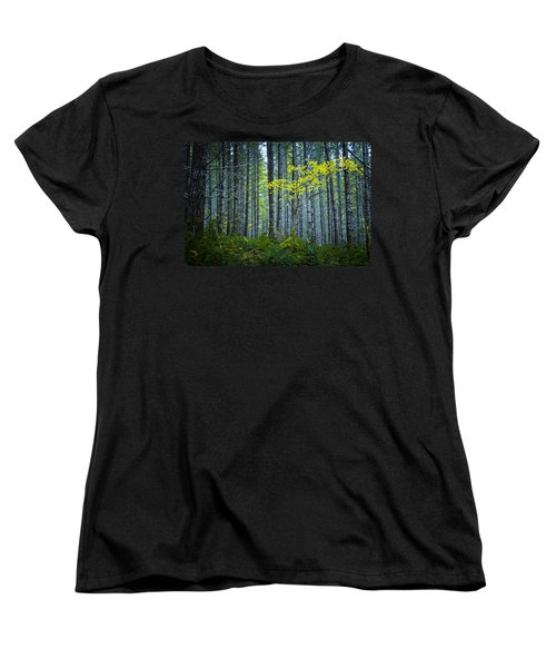 In The Woods Women's T-Shirt (Standard Cut) by Belinda Greb