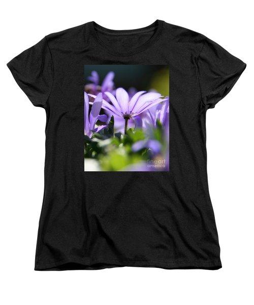 Floral Purple Light  Women's T-Shirt (Standard Cut) by Neal Eslinger