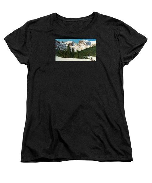 Indian Peaks Winter Women's T-Shirt (Standard Cut) by Dan Miller