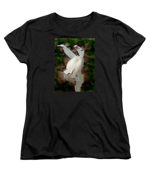 Women's T-Shirt (Standard Cut) featuring the photograph Indian Pipe by William Tanneberger