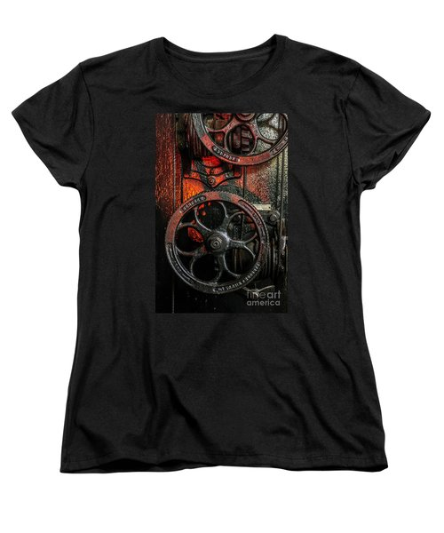 Industrial Wheels Women's T-Shirt (Standard Cut) by Carlos Caetano
