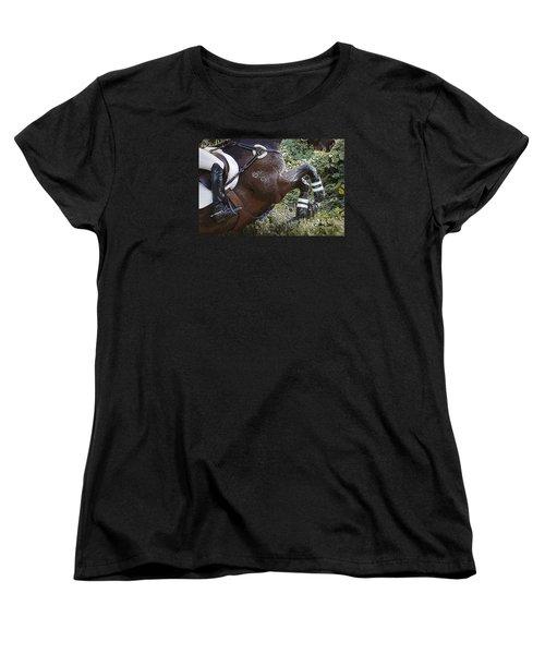 Women's T-Shirt (Standard Cut) featuring the photograph Inmidair by Joan Davis