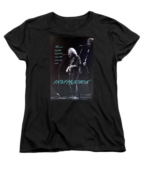 Women's T-Shirt (Standard Cut) featuring the photograph Inspiration Move Me Brightly - Concerts -  Dead by Susan Carella