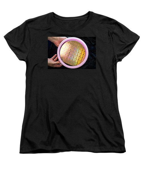 Women's T-Shirt (Standard Cut) featuring the photograph Integrated Circuits On Silicon Wafer by Science Source