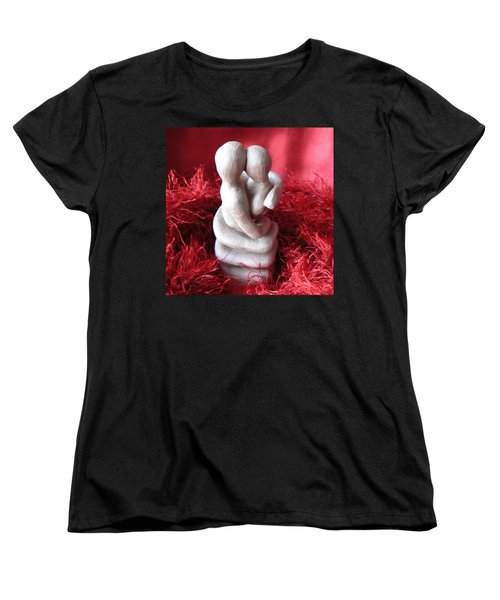 Women's T-Shirt (Standard Cut) featuring the sculpture Intertwined by Barbara St Jean
