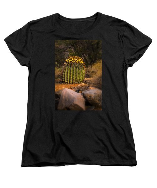 Women's T-Shirt (Standard Cut) featuring the photograph Into The Prickly Barrel by Mark Myhaver