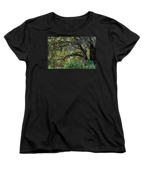 Women's T-Shirt (Standard Cut) featuring the photograph Into The Woods by Susan Wiedmann