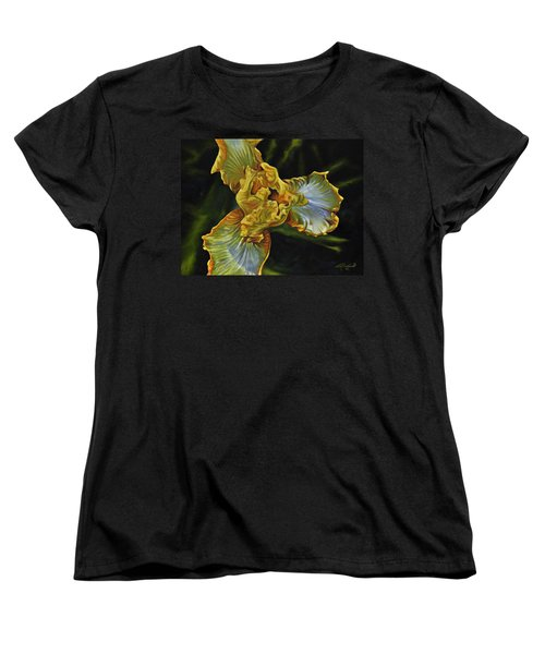Women's T-Shirt (Standard Cut) featuring the painting Iris by Craig T Burgwardt