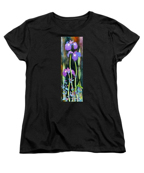 Women's T-Shirt (Standard Cut) featuring the painting Iris Tall And Slim by Teresa Ascone