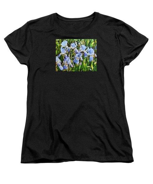 Irises Women's T-Shirt (Standard Cut) by Dragica  Micki Fortuna