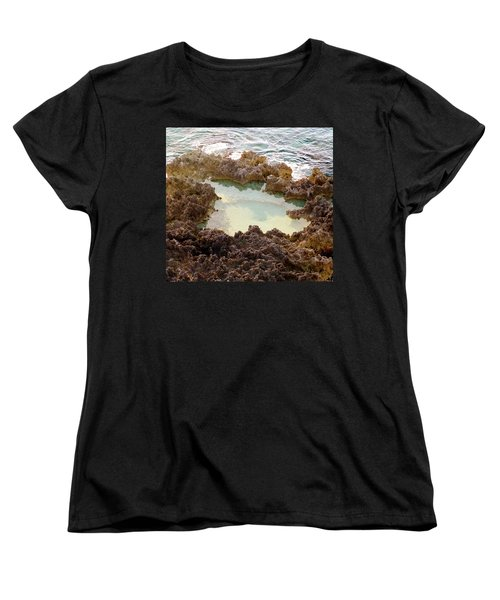 Women's T-Shirt (Standard Cut) featuring the photograph Ironshore Tidewater Pool by Amar Sheow