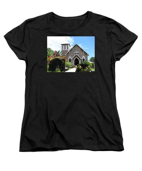 Island Church Women's T-Shirt (Standard Cut) by Michael Krek