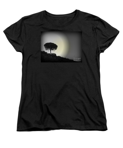 Women's T-Shirt (Standard Cut) featuring the photograph Isolation Tree by Clare Bevan