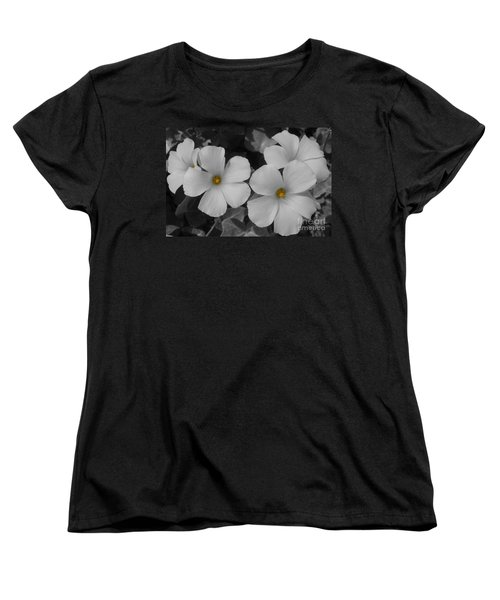 Women's T-Shirt (Standard Cut) featuring the photograph Its Not All Black And White by Janice Westerberg