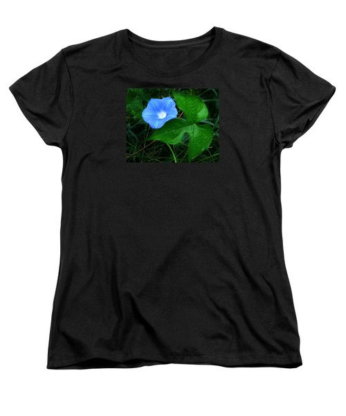 Wild Ivyleaf Morning Glory Women's T-Shirt (Standard Cut) by William Tanneberger