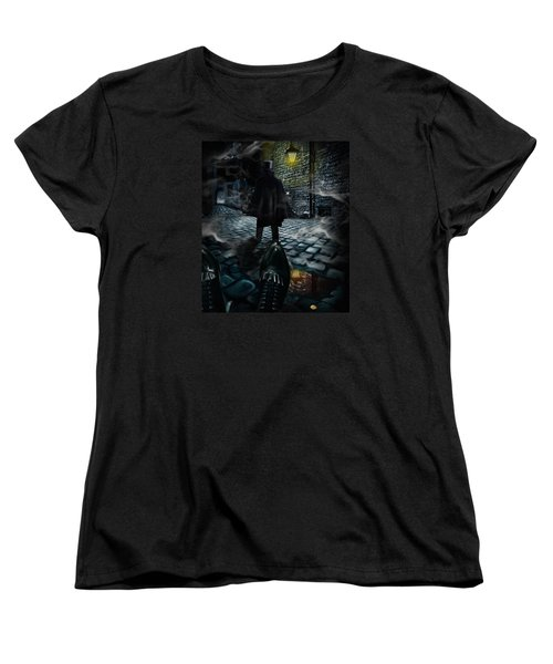 Jack The Ripper Women's T-Shirt (Standard Cut) by Alessandro Della Pietra
