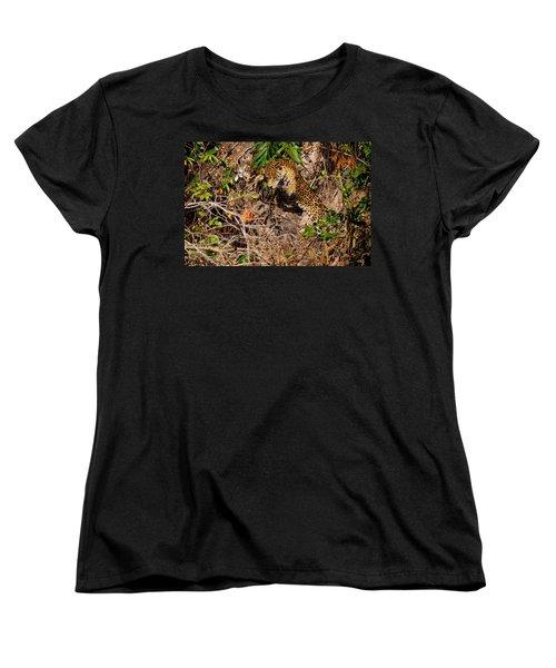 Jaguar Vs Caiman 2 Women's T-Shirt (Standard Cut) by David Beebe