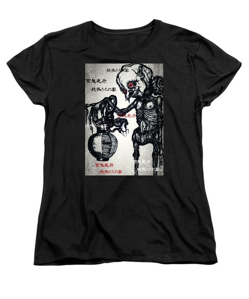 Japanese Creatures Women's T-Shirt (Standard Cut) by Akiko Okabe