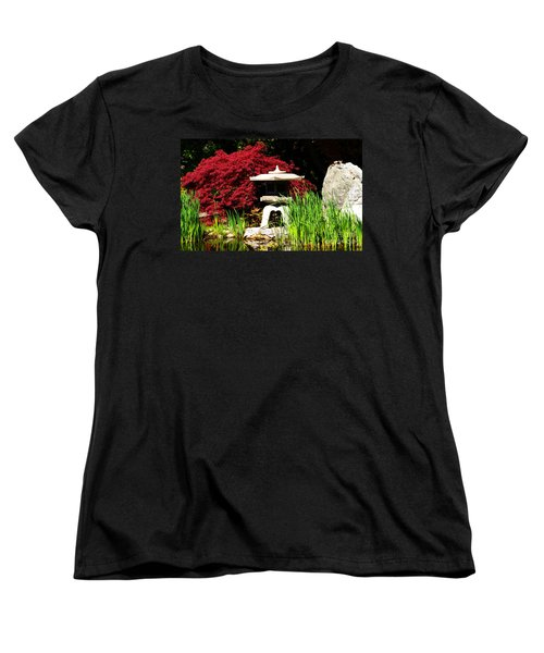 Japanese Garden Women's T-Shirt (Standard Cut) by Angela DeFrias