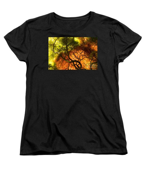 Japanese Maples Women's T-Shirt (Standard Cut) by Angela DeFrias