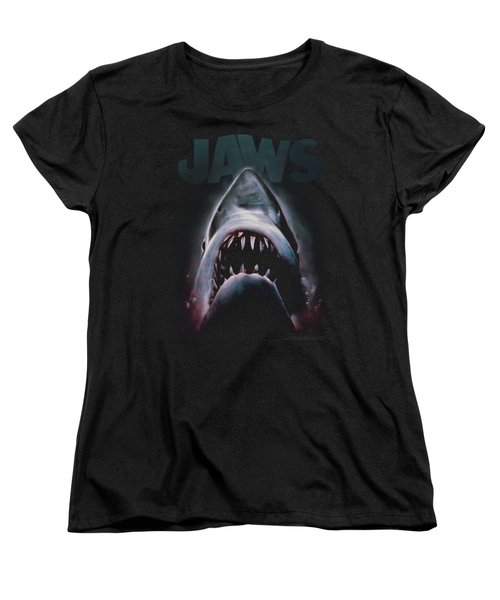 Jaws - Terror In The Deep Women's T-Shirt (Standard Cut) by Brand A