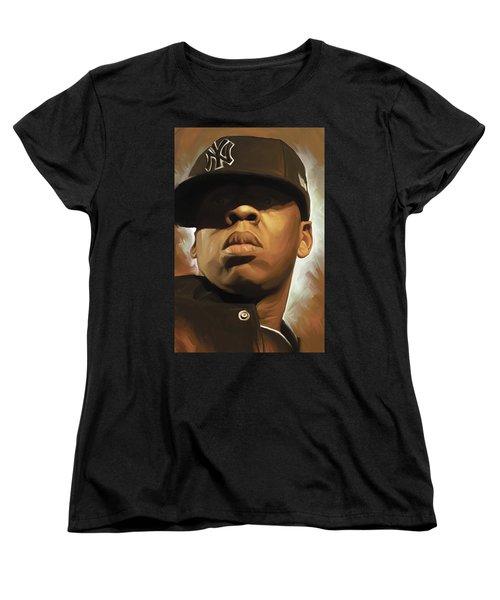 Jay-z Artwork Women's T-Shirt (Standard Cut) by Sheraz A