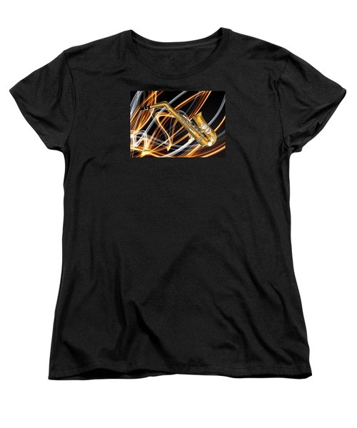 Jazz Saxaphone  Women's T-Shirt (Standard Cut) by Louis Ferreira