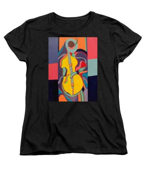 Jazzamatazz Cello Women's T-Shirt (Standard Cut) by Angelo Thomas