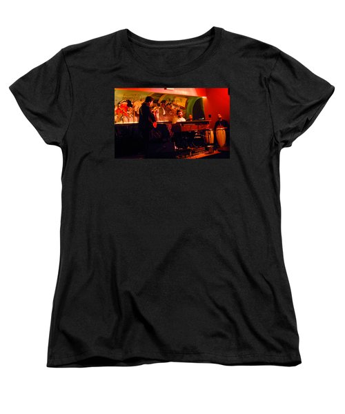 Jc Stylles At Mintons Playhouse Harlem Usa Women's T-Shirt (Standard Cut) by Steve Archbold