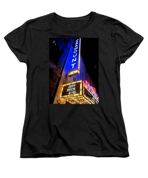 Women's T-Shirt (Standard Cut) featuring the photograph Jeff Beck At The Paramount by Fiona Kennard