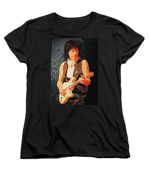 Jeff Beck Women's T-Shirt (Standard Cut) by Taylan Apukovska