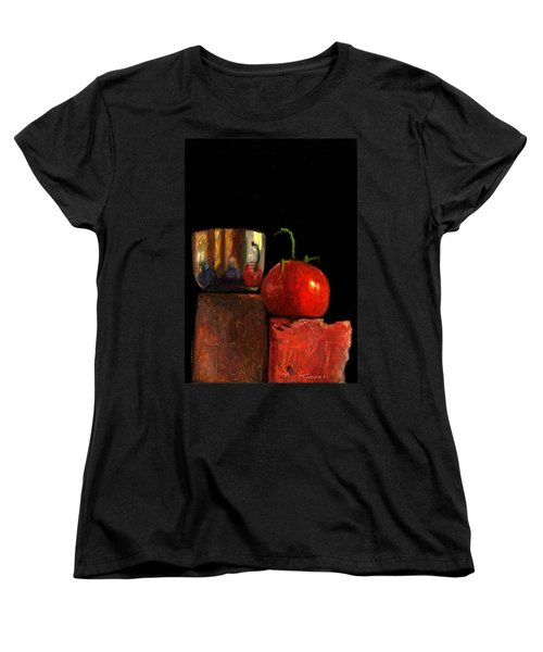 Jefferson Cup With Tomato And Sedona Bricks Women's T-Shirt (Standard Cut) by Catherine Twomey