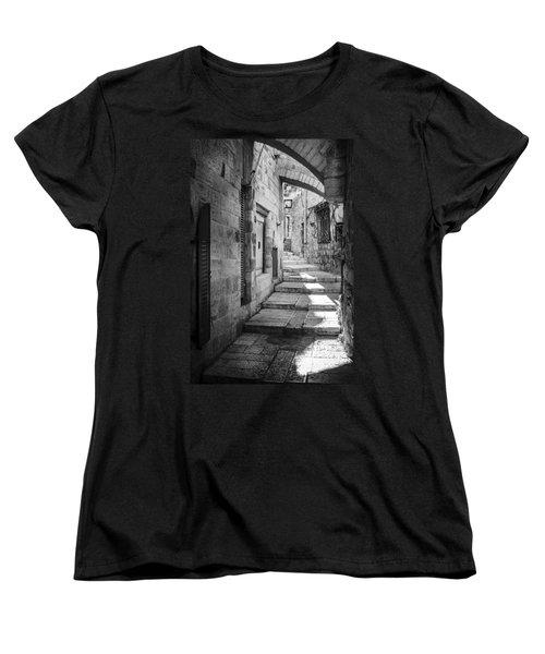 Jerusalem Street Women's T-Shirt (Standard Cut) by Alexey Stiop