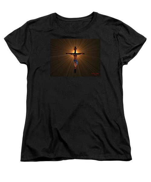 Women's T-Shirt (Standard Cut) featuring the digital art Jesus Christ by Michael Rucker