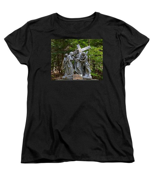Jesus Meets His Mother Women's T-Shirt (Standard Cut) by Terry Reynoldson