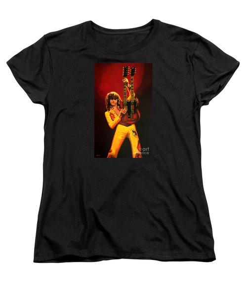 Jimmy Page Painting Women's T-Shirt (Standard Cut) by Paul Meijering