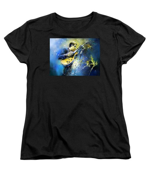 Joe Bonamassa 01 Women's T-Shirt (Standard Cut) by Miki De Goodaboom