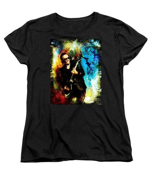 Joe Bonamassa Madness Women's T-Shirt (Standard Cut) by Miki De Goodaboom